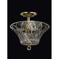 Dale Tiffany Chester 3 Light Semi Flush Mount in Polished Brass GH60716PB