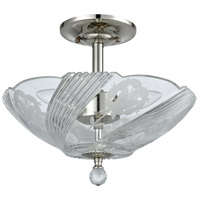 Dale Tiffany GH60717PC Grove Park 3 Light 13 inch Polished Chrome Flush Mount Ceiling Light