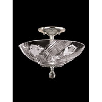 Dale Tiffany Grove Park 3 Light Flush Mount in Satin Nickel GH60717SN