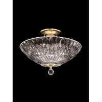 Lightwater 3 Light 13 inch Polished Brass Flush Mount Ceiling Light