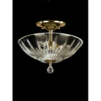 Dale Tiffany Artimus 3 Light Semi Flush Mount in Polished Brass GH60720PB