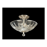Artimus 3 Light 13 inch Satin Nickel Semi Flush Mount Ceiling Light in Solid Crystal