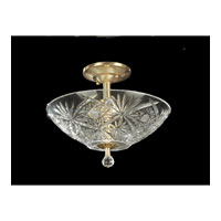Dale Tiffany Bayford 3 Light Semi-Flush Mount in Light Antique Brass GH60945
