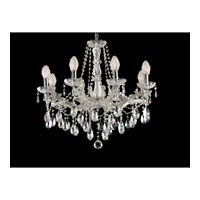 Polished Chrome Solid Crystal Chandeliers