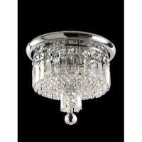 Dale Tiffany Tilburg 3 Light Flush Mount in Polished Chrome GH70267