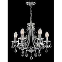 Dale Tiffany Indiana Ice 6 Light Chandelier in Polished Chrome GH70288