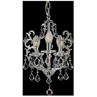 Dale Tiffany GH70379 Buchanon 3 Light 16 inch Polished Chrome Chandelier Ceiling Light