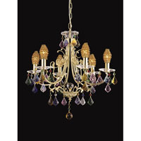 Yorkshire 6 Light 21 inch Gold Chandelier Ceiling Light