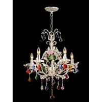 Dale Tiffany Yolanda Chandelier 5 Light in Silver Plated GH80252 photo thumbnail