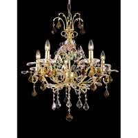 Dale Tiffany Harlow 5 Light Chandelier in Gold GH80253