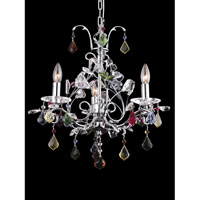 Dale Tiffany Wembley 3 Light Chandelier in Polished Chrome GH80255
