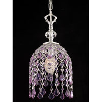 Dale Tiffany Highgate 1 Light Mini Pendant in Silver GH80257