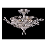 Dale Tiffany Kilburn 3 Light Semi-Flush Mount in Polished Chrome GH80285 photo thumbnail