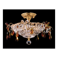 Dale Tiffany Marston 3 Light Semi-Flush Mount in Gold GH80286