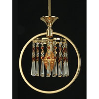 Dale Tiffany Ryder 1 Light Mini Pendant in Gold GH80289