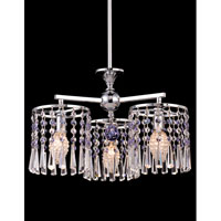 Dale Tiffany Paddington Chandelier 3 Light in Polished Chrome GH80291
