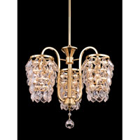 Abbey 3 Light 16 inch Gold Pendant Ceiling Light