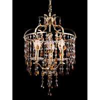 Champagne 3 Light 16 inch Gold Plated Chandelier Ceiling Light