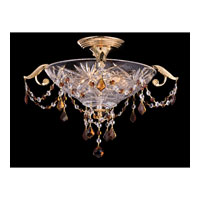 Dale Tiffany St Ives 3 Light Semi-Flush Mount in Gold GH80343