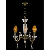Prato Chandelier 3 Light 12 inch Antique Brass Hanging Fixture Ceiling Light