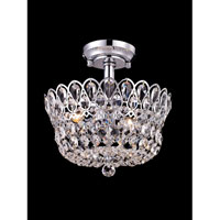 Dale Tiffany Brinkley 4 Light Semi-Flush Mount in Polished Chrome GH80506