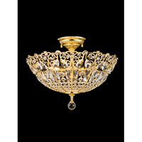Simsbury 4 Light 18 inch Gold Plated Semi Flush Mount Ceiling Light