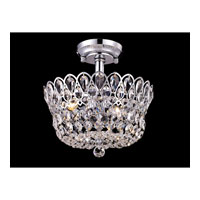 Dale Tiffany GH80527 Mckinney 2 Light 12 inch Polished Chrome Semi-Flush Mount Ceiling Light