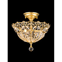 Crossgrove 3 Light 14 inch Gold Semi-Flush Mount Ceiling Light