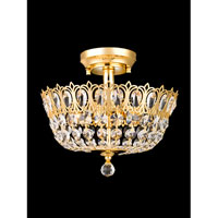 Dale Tiffany Quincy 2 Light Semi-Flush Mount in Gold GH80530 photo thumbnail