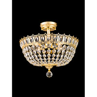 Dale Tiffany Southwick 4 Light Semi-Flush Mount in Gold GH80531