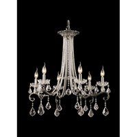 Dale Tiffany Ashdon 6 Light Chandelier in Dark Chrome GH90096