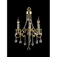 Dale Tiffany Broadway 3 Light Chandelier in Gold GH90124