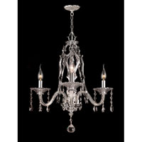 Dale Tiffany Careton 3 Light Chandelier in Polished Chrome GH90126
