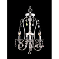 Dale Tiffany West Newton 3 Light Chandelier in Polished Chrome GH90127