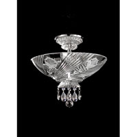 Dale Tiffany Grove Park-Court Flush Mount 3 Light in Polished Chrome GH90248 photo thumbnail