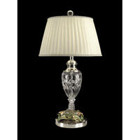 Dale Tiffany Crystal Floral Table Lamp 1 Light in Polished Chrome GT10015 photo thumbnail