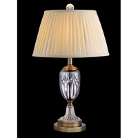 Dale Tiffany Simons Table Lamp 1 Light in Light Antique Brass GT10225