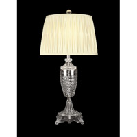 Dale Tiffany Norris Table Lamp 1 Light in Nickel GT10226