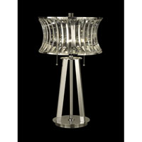 Dale Tiffany Crystal Table Lamp 2 Light in Nickel GT10241 photo thumbnail