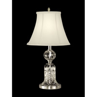 Dale Tiffany Milton Table Lamp 1 Light in Satin Nickel GT10355