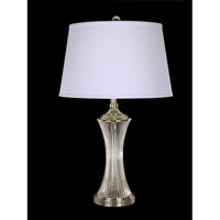 Dale Tiffany Wheeler Crystal Table Lamp 1 Light in Polished Chrome GT10413