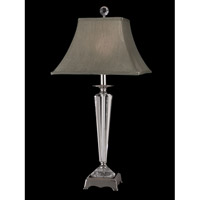 Dale Tiffany Penfield 1 Light Table Lamp in Polished Nickel GT11207