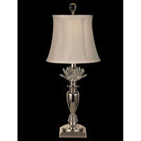 Dale Tiffany Halston 1 Light Table Lamp in Polished Nickel GT11220