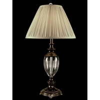 Dale Tiffany GT11223 Josie Crystal 30 inch 100 watt Oil Rubbed Bronze Table Lamp Portable Light photo thumbnail