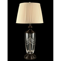 Lillie Crystal 31 inch 150 watt Oil Rubbed Bronze Table Lamp Portable Light