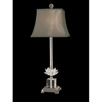 Dale Tiffany Lucinda 1 Light Table Lamp in Polished Nickel GT11258