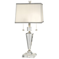 Danbrook 27 inch 60 watt Satin Nickel Table Lamp Portable Light