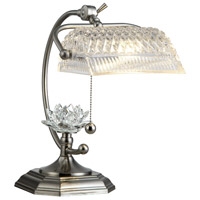 Dale Tiffany Althea 1 Light Desk Lamp in Satin Nickel GT12208
