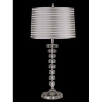 Dale Tiffany Culver 1 Light Table Lamp in Nickel GT12211