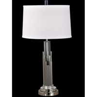 Dale Tiffany Sterling 1 Light Table Lamp in Satin Nickel GT12273